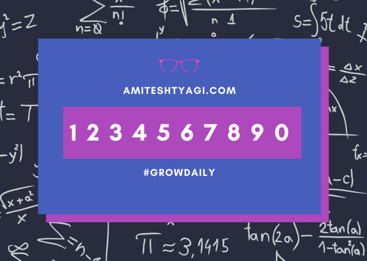 Pink and Blue Nerdy Math Formula Birthday Card
